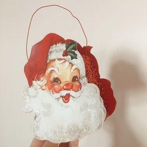 Retro Inspired Santa Tin Bucket